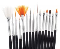 Inter-Vion - Set Of Brushes for Nail Art - A set of 15 brushes for decorating nails