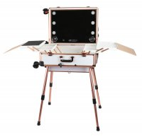 Portable make-up table / Makeup artist stand LC015 - WHITE FLORAL