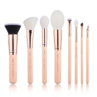 JESSUP - Classics Chrysalid Series Brushes Set - Set of 8 make-up brushes - T455 Peach Puff / Rose Gold