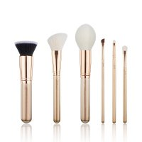 JESSUP - Classics Alchemy Brushes Set - Set of 6 make-up brushes - T419 Golden/Rose Gold