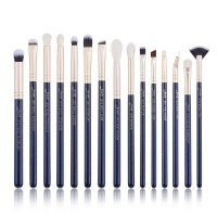 JESSUP - Classics Galaxy Series Brushes Set - Set of 15 make-up brushes - T477 Prussian Blue / Golden Sands