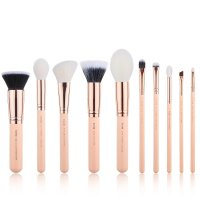 JESSUP - Classics Chrysalid Series Brushes Set - Set of 10 make-up brushes - T449 Peach Puff / Rose Gold