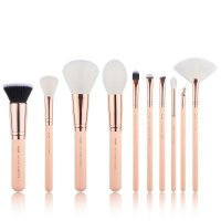 JESSUP - Classics Series Brushes Set - Set of 10 make-up brushes - T450 Peach Puff / Rose Gold