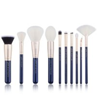 JESSUP - Classics Galaxy Series Brushes Set - Set of 10 make-up brushes - T480 Prussian Blue / Golden Sands