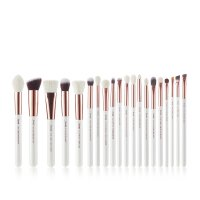 JESSUP - Individual Brushes Set - Set of 20 make-up brushes - T225 White / Rose Gold
