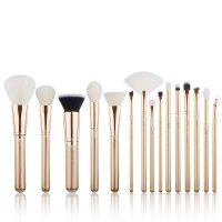 JESSUP - Classics Alchemy Brushes Set - Set of 15 make-up brushes - T406 Golden / Rose Gold
