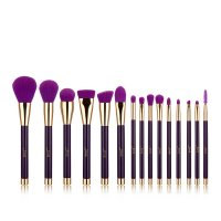 JESSUP - Colorful Brushes Set - Set of 15 make-up brushes - T114 Purple / Dark Violet