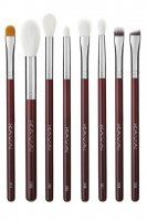 KAVAI - Set of 8 MAROON make-up brushes + beautician