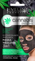 Eveline Cosmetics - Cannabis Skincare Mask - Cleansing and matting 3in1 charcoal mask - 7 ml