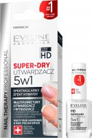 EVELINE - NAIL THERAPY PROFESSIONAL - SUPER DRY - Multifunctional hardener and dryer 5in1 - 12 ml