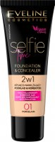 Eveline Cosmetics - SELFIE TIME - FOUNDATION & CONCEALER - Concealing and moisturizing face foundation and concealer - 30 ml