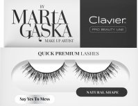 Clavier - QUICK PREMIUM LASHES by Marta Gąska - False eyelashes with a 3D effect - SK09 Say Yes To Mess