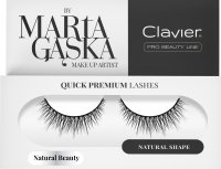 Clavier - QUICK PREMIUM LASHES by Marta Gąska - Artificial eyelashes on a strip - 827 Natural Beauty