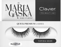 Clavier - QUICK PREMIUM LASHES by Marta Gąska - Artificial eyelashes on a bar - 804 Rock & Doll
