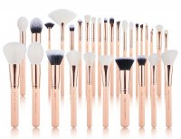 JESSUP - Classics Chrysalid Series Brushes Set - Set of 30 make-up brushes - T440 Peach Puff / Rose Gold