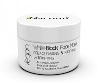 Nacomi - White Black Face Mask - Detoxifying and cleansing face mask with active charcoal - 50 ml