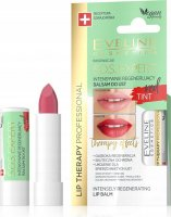 Eveline Cosmetics - LIP THERAPY PROFESSIONAL - S.O.S. EXPERT LIP BALM - Intensively regenerating, coloring lip balm - Red