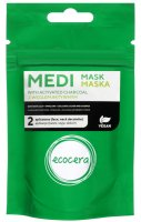 Ecocera - MEDI MASK WITH ACTIVATED CHARCOAL - Mask with active charcoal - 50 g