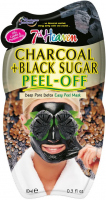 7th Heaven (Montagne Jeunesse) - Charcoal + Black Sugar Peel Off Mask - Cleansing and detoxifying face mask with active charcoal - Peel Off