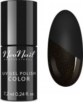 NeoNail - UV GEL POLISH - TOP GLOW GOLD - Top / Topcoat with shiny particles - 7.2 ml - ART. 7240-7