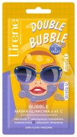 Lirene - DOUBLE BUBBLE - YELLOW & VIOLET - Clay face mask with vitamin C - 2x5 g