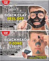 7th Heaven (Montagne Jeunesse) - Men Duo Peel Off - Black Clay + Blackhead T-Zone - Facial cleansing kit for men Peel Off - Black Clay Mask + Blackhead T-Zone patches
