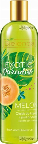 Bielenda - Exotic Paradise - Bath and Shower Oil - Melon - Bath and shower oil with melon juice - 400 ml