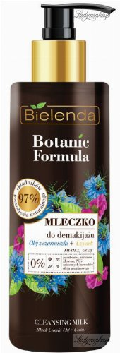 Bielenda - Botanic Formula - Cleansing Milk - Black Cumin Oil + Cistus - Face and eye makeup remover milk - 200 ml