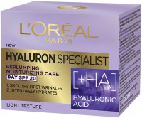 L'Oréal - HYALURON SPECIALIST DAY CREAM - Anti-wrinkle face cream - Day - SPF 20 - 50 ml