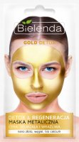 Bielenda - Gold Detox & Regenerating Metallic Face Mask - Detox & Regeneration metallic mask - 8 g
