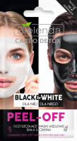 Bielenda - Carbo Detox - Black & White - Cleansing Peel-Off Mask for Her and Him - Cleansing carbon masks - 2x6g