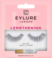 EYLURE - LENGTHENING - NO.155 - eyelashes with glue - Lengthening effect - 6001144N