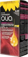 GARNIER- OLIA PERMANENT HAIR COLOR - 6.60 INTENSE RED - Hair dye - Permanent hair color - Intense red