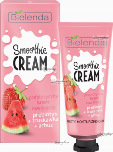 Bielenda - SMOOTHIE CREAM - Prebiotic Moisturizing Cream - Prebiotic + Strawberry + Watermelon - 50 ml