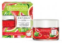 Bielenda - JUICY JELLY MASK - Moisturizing mask with watermelon and aloe for dry and dehydrated skin