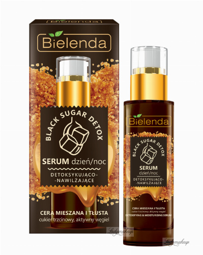 Bielenda - Black Sugar Detox - Detoxifing & Moisturising Serum - Day / Night - Detoxifying and moisturizing serum - Day / night