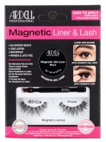 ARDELL - MAGNETIC LINER & LASH - A set of artificial eyelashes with a magnetic gel liner - Wispies