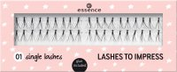 Essence - LASHES TO IMPRESS - Tufts of eyelashes - 01 Single Lashes