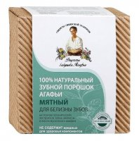 Agafia - Recipes Babuszki Agafii - Mint tooth powder