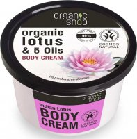 ORGANIC SHOP - Lotus Indien Body Cream - Organic Lotus & 5 Oils - Indian lotus body cream - 250 ml