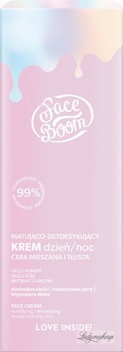 BodyBoom - Face Boom - FACE CREAM - Mattifying and detoxifying cream for combination and oily skin - Day and Night - 50 ml