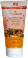 ORIENTANA - FACE GEL CLEANSER WITH RICE PARTICLES - ALOE AND PAPAYA - Face wash gel with rice particles - Aloe and papaya - 150 ml