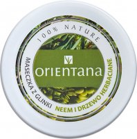 ORIENTANA - CLAY MASK - Clay mask for oily skin - Neem and Tea Tree - 50 g