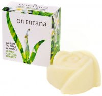 ORIENTANA - SOLID MASSAGE BAR - 100% natural ankle body lotion - Jasmine and Green Tea - 60 g