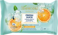 Bielenda - Micellar Care - Fresh Juice - Micellar cleansing wipes for face, eyes and lips with bioactive citrus water - 20 pcs - ORANGE