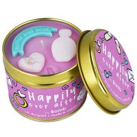 Bomb Cosmetics - Happily Ever After Tinned Candle - Hand-made scented candle with essential oils - I LONG AND HAPPY LIVING