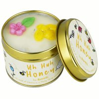 Bomb Cosmetics - Uh Huh Honey Tinned Candle - Hand-made scented candle with essential oils - HONEY