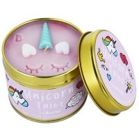 Bomb Cosmetics - Unicorn Tales Tinned Candle - Hand made scented candle with essential oils - UNICORN