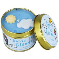Bomb Cosmetics - Above The Clouds Tinned Candle - Hand-made scented candle with essential oils - ABOVE CLOUDS