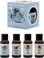 YOPE - Travel Size Set - Travel kit for body and hair care - Shampoo and Conditioner Oat Milk + Yunnan Shower Gel + Verbena Balm - 4x40 ml